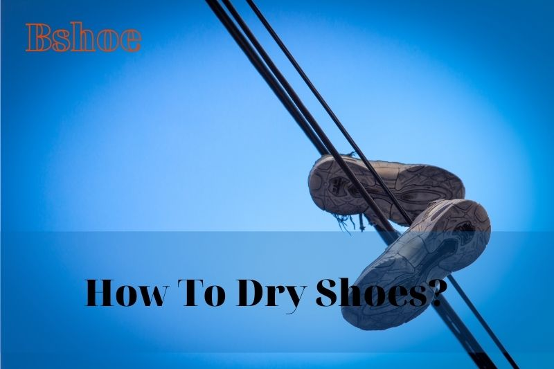 How To Dry Shoes